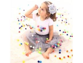 Infant Tutu Skirt Baby Girls Mini Dress with Balls Girls Tutu Skirt Princess Party Ballet Dance 2