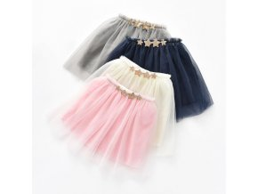 Tutus Skirt for Baby Girls Pettiskirt meisjes para falda tutu bebe applique Sequin Stars 3 Layers 1