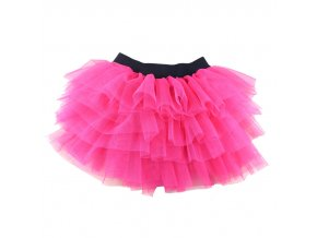 Winniefashions Factory new 2014 Black Color Cotton Tulle Skirt Baby Girl Skirts Toddler Kids Skirts 3 hot pink