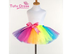 New Fluffy Handmade rainbow tutu skirt colorful cheap girl skirt dance skirt Baby Girl Clothes kids 1