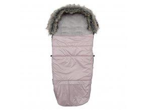 Dětský fusak New Baby 3v1 s kožíškem růžový