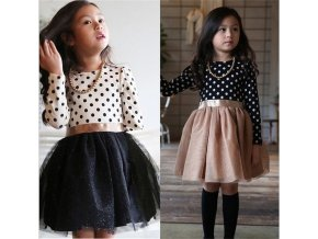 Spring Autumn Long Sleeves Children Girl Clothes Casual School Dress for Girls mini Tutu Dress Kids 1