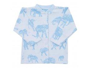 Kojenecký kabátek Baby Service Sloni modrý, vel. 62 (3-6m)