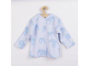 Kojenecký kabátek Baby Service Sloni modrý, vel. 74 (6-9m)