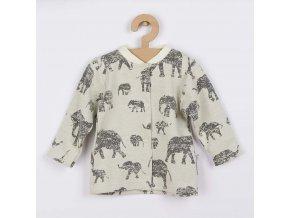 Kojenecký kabátek Baby Service Sloni šedý, vel. 74 (6-9m)