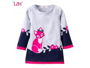 2018 Autumn Winter Kids Dresses For Girls Long Sleeve Party Dress Christmas New Year Costume For 1