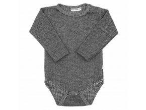 Zimní kojenecké body Baby Service Retro šedé, vel. 56 (0-3m)