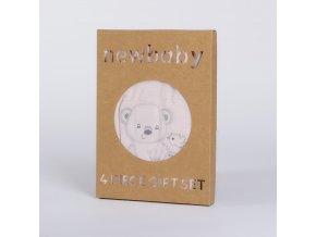 Kojenecká soupravička do porodnice New Baby Sweet Bear růžová, vel. 56 (0-3m)