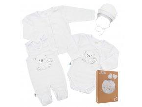 Kojenecká soupravička do porodnice New Baby Sweet Bear bílá, vel. 62 (3-6m)