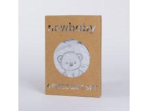 Kojenecká soupravička do porodnice New Baby Sweet Bear šedá, vel. 62 (3-6m)