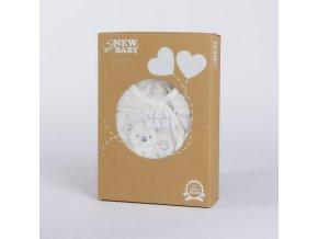 Kojenecká soupravička do porodnice New Baby Sweet Bear béžová, vel. 62 (3-6m)