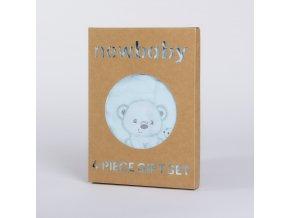 Kojenecká soupravička do porodnice New Baby Sweet Bear modrá, vel. 62 (3-6m)
