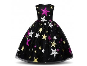 New Year Costume For Kids Girl Dress Night Sky Evening Gown Birthday Party Dresses For Girls 1