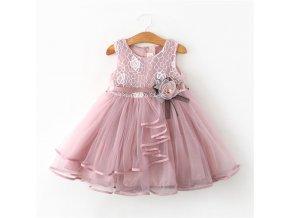 Lace Little Princess Dresses Summer Solid Sleeveless Tulle Tutu Dresses For Girls 2 3 4 5 1