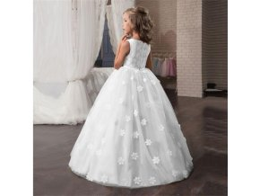 Fancy Flower Long Prom Gowns Teenagers Dresses for Girl Children Party Clothing Kids Evening Formal Dress flower dress (1)