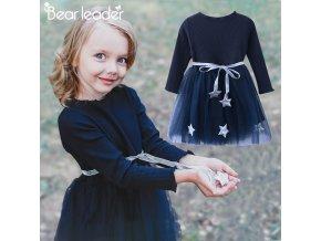 Bear Leader Girls Dress Pentagram Princess Dress Brand Girls Clothes Children Clothing European and American Style 1