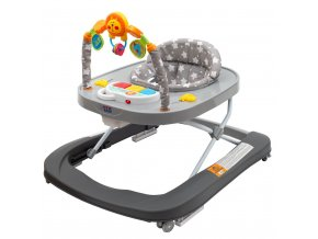 Dětské chodítko se silikonovými kolečky New Baby Forest Kingdom Gray