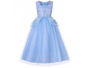 3 12 Years Girl Dress for Wedding Party Sequins Flowers Princess Girls Dresses Summer Girl Tailing blue (2)