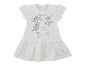 Kojenecké letní šaty Koala Unicorn Summer bílé, vel. 74 (6-9m)