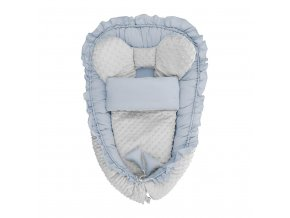 Hnízdečko s peřinkou pro miminko Minky Belisima Mouse modré