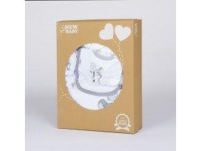 14-dílná luxusní kojenecká souprava New Baby Little Mouse v EKO krabičce, vel. 56 (0-3m)