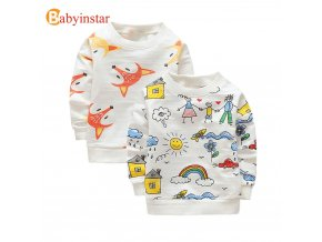 Babyinstar 2018 New Autumn Children Clothe Baby Boys Hoodies Sweatshirts Baby Girl s Clothing Tops Toddler 1