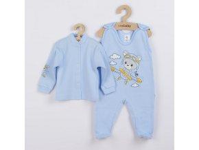 2-dílná souprava New Baby Teddy pilot modrá, vel. 68 (4-6m)