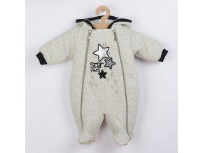 Zimní kojenecká kombinéza s kapucí Koala Star Vibes, vel. 68 (4-6m)