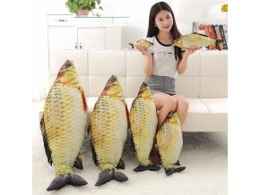 1pc 60cm 80cm Kawaii Simulation Crucian Plush Animals Toys Stuffed Plush Fish Pillow Sofa Cushion Birthday 1
