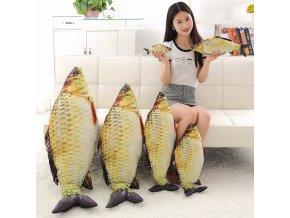 1pc 60cm 80cm Kawaii Simulation Crucian Plush Animals Toys Stuffed Plush Fish Pillow Sofa Cushion Birthday 1
