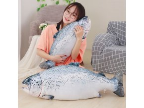 1pc 60 80cm Funny Simulation Weever Plush Pillow Stuffed Cute Animal Fish Toys Dolls Kids Baby 1