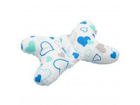 Stabilizační polštářek New Baby modrá srdíčka
