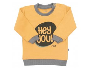 Kojenecké tričko New Baby With Love hořčicové, vel. 86 (12-18m)