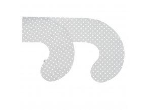 Povlak na kojící polštář ve tvaru C New Baby XL šedý s puntíky