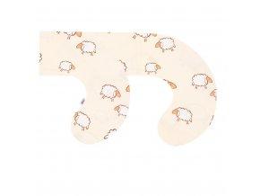 Povlak na kojící polštář ve tvaru C New Baby Ovečky béžový