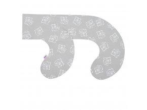 Povlak na kojící polštář ve tvaru C New Baby Medvídci šedý