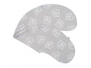 Povlak na kojící polštář New Baby Medvídci šedý