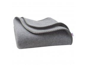 Dětská fleecová deka New Baby 100x75 šedá hvězdičky
