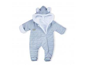 Zimní kojenecký overal Nicol Kids Winter šedý, vel. 56 (0-3m)