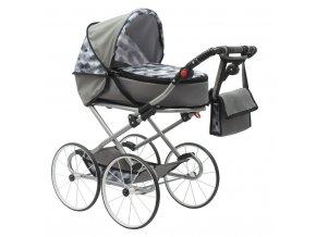 Dětský Retro kočárek pro panenky 2v1 New Baby Nella šedý
