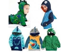 Boys Animal Hoodies Kids Spring Autumn Clothes Dinosaur Zipper Coat Children Fashion Sweatshirt 2 6 Years 1