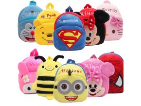 Disney Cute Mini Winnie the Pooh Mickey Mouse Cartoon Children Plush Backpack Toy Bag Boy Girl 1