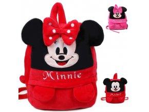 High quality lovely Mickey Minnie children backpack mochila shool bag kids plush backpack for 3 7 1