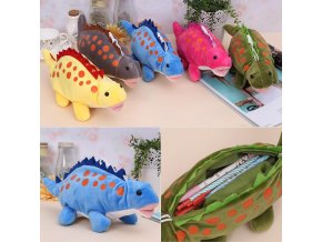 Funny Dinosaur Plush Dragon Zero Creative Cartoon Funny Dinosaur Plush Toy Dragon Zero Case Stationery Pencil 1