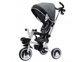 Dětská tříkolka Baby Mix 5v1 RELAX 360° šedá