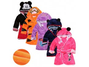 Cartoon Kids Robes Flannel Child Boys Girls Robes Lovely Animal Hooded Bath Robes Long Sleeve Baby 1