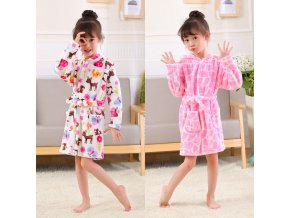 Cartoon Kids Robes Flannel Child Boys Girls Robes Lovely Animal Hooded Bath Robes Long Sleeve Baby 2