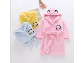 2019 New Soft Children s Robes for 2 6 Years Baby Kids Pajamas Boys Girls Cartoon 6
