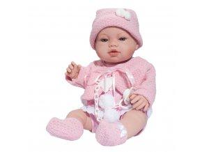 Luxusní dětská panenka-miminko Berbesa Nela 43cm
