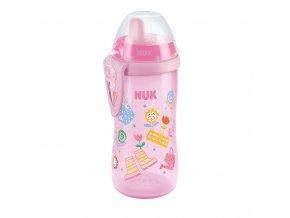 Dětská láhev NUK Kiddy Cup 300 ml holka